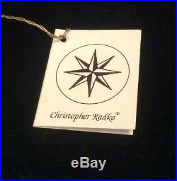 Christopher Radko Christmas Ornament ANGEL ON BOARD SPACESHIP ALIEN UFO. RARE