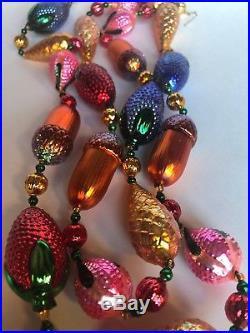 Christopher Radko Christmas Ornament Garland Acorns Berries Pinecones