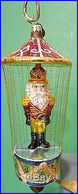 Christopher Radko Christmas Ornament Nutcracker Drum Cage Gilt Threads