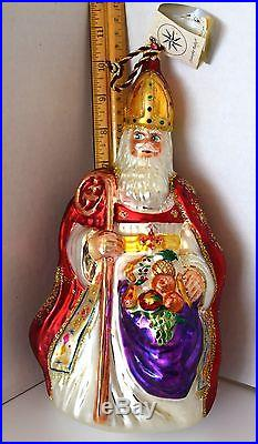 Christopher Radko Christmas Ornament-The Bishop- With Box & Tag