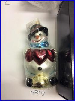 Christopher Radko Christmas Ornaments Lot of 17 Santa Snowman Angel 2000