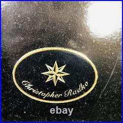 Christopher Radko Christmas Seafoam Glass Garland 6' Original Box And Tag