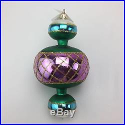 Christopher Radko Christmas Tree Holiday Ornament Jumbo Spin Top #93-302-1
