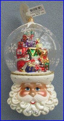 Christopher Radko Christmas on My Mind Ornament Santa Thinks of Toys Ltd Ed NEW