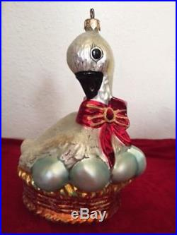 Christopher Radko Christmas ornament 12 DAYS OF CHRISTMAS SIX GEESE A LAYING