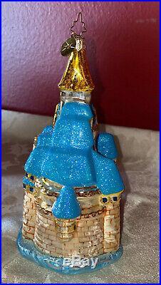 Christopher Radko Cinderella Castle Disney World Christmas Glass Ornament 2006