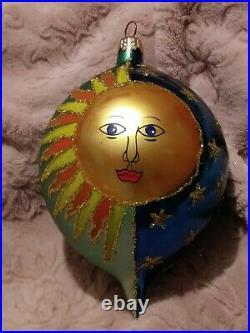 Christopher Radko Copernicus 96-200-0 1996 Hard To Find Sun Moon Tear Drop 7