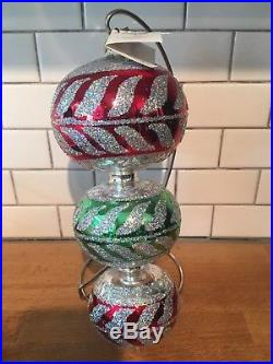Christopher Radko Corinthian Triple Ball Ornament 97-399-c Large 10 Inches