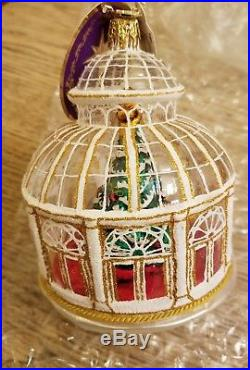 Christopher Radko Crystal Clear Solarium Ornament Atrium / Observatory