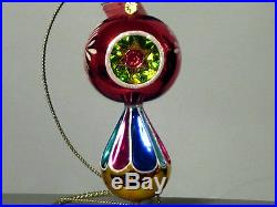 Christopher Radko DILLY DAZZLE 2-Tier 3-Reflector Drop Christmas Ornament, Rare
