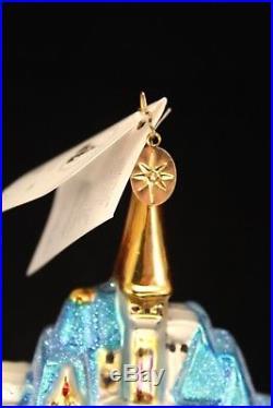 Christopher Radko DISNEY Cinderella Castle Christmas Ornament w Tags 1998