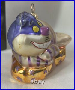 Christopher Radko DISNEY Ornament Alice In Wonderland's CHESHIRE CAT In Box