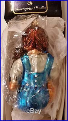 Christopher Radko DOROTHY & TOTO Ornament BRAND NEW Wizard Of Oz RARE NIB US