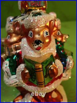 Christopher Radko Deer A Caroling Glass Ornament