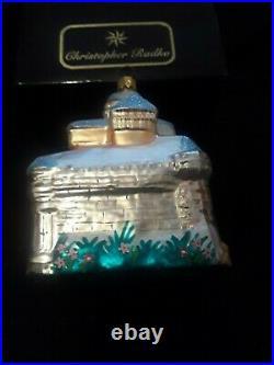 Christopher Radko/Disney 1999 Blue Castle Christmas Ornament