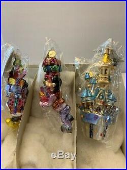 Christopher Radko Disney 30th Anniversary Ornaments set of 3