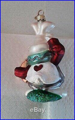 Christopher Radko Disney Alice In Wonderland White Rabbit Ornament Rare
