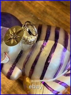 Christopher Radko Disney Alice in Wonderland Ornament Cheshire Cat