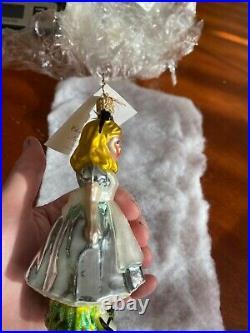 Christopher Radko Disney Alice in Wonderland Ornament with Tag New In Box