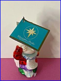 Christopher Radko Disney Alice in Wonderland White Rabbit Ornament RARE New Tags