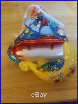 Christopher Radko Disney Exclusive Tomorrowland Goofy Glass Ornament