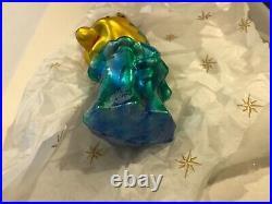 Christopher Radko Disney FLOUNDER The Little Mermaid Glass Ornament w Tag