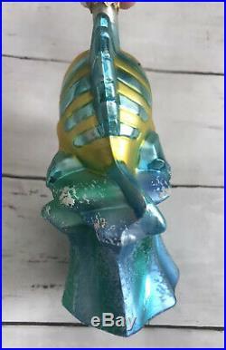 Christopher Radko/Disney Flounder The Little Mermaid Ornament Used
