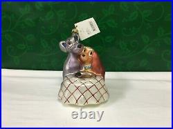Christopher Radko Disney Lady and The Tramp 1379/3500 Glass Ornament 98-DIS-39