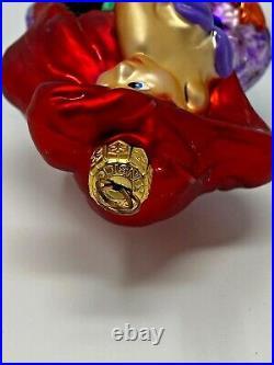 Christopher Radko Disney Little Mermaid Ariel Glass Ornament 97-DIS-82