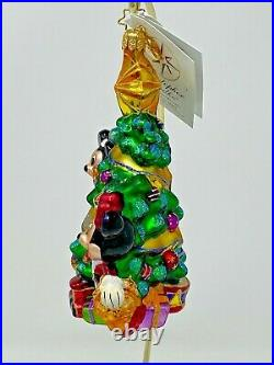 Christopher Radko Disney Mickey & Minnie's Christmas Glass Ornament 02-DIS-09