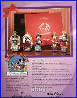 Christopher Radko Disney Mickey Mouse 70 Happy Years LE Ornaments New In Box