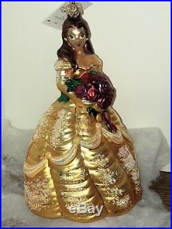 Christopher Radko Disney Ornament Belle Beauty And The Beast Rare In