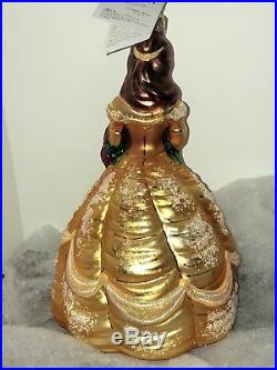 Christopher Radko Disney Ornament BELLE Beauty And The Beast RARE In Box
