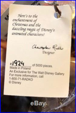 Christopher Radko Disney Ornament BELLE Beauty And The Beast Very RARE In Box