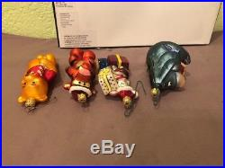 Christopher Radko Disney Poo-Bear Eyore Tigger Piglett Christmas Ornament Set