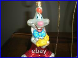 Christopher Radko Disney RARE 1999 ROGER & JESSICA RABBIT Vintage Ornament Set