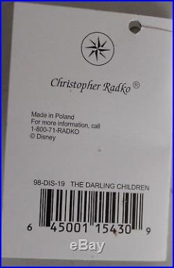 Christopher Radko Disney Showcase Ornament Peter Pan Darling Children 98-DIS-19