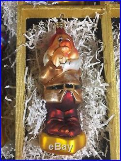 Christopher Radko Disney Snow White 9 Pc Ornament Set Roger's Gardens Exclusive