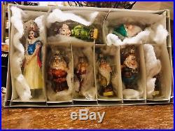 Christopher Radko Disney Snow White And The Seven Dwarfs Ornament Set
