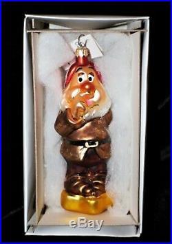 Christopher Radko Disney Snow White And The Seven Dwarfs Ornament Set MINT