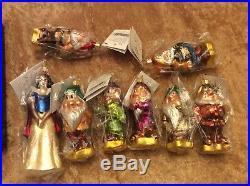 Christopher Radko Disney Snow White And The Seven Dwarfs Ornament Set NEW