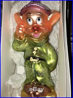 Christopher Radko Disney Snow White Seven Dwarfs Ornaments Mint In Boxes