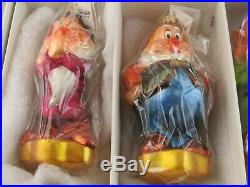 Christopher Radko Disney Snow White and the Seven Dwarfs Ornament Set in Box
