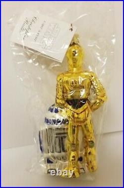 Christopher Radko Disney Star Wars C3PO & R2-D2 Ornament 99-STW-01 Mint HTF