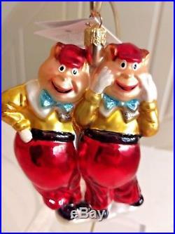 Christopher Radko/ Disney TWEEDLEDUM & TWEEDLEDEE Ornament ALICE IN WONDERLAND