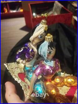 Christopher Radko Disney's Aladdin Flying Carpet Ornament