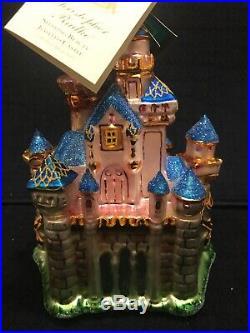 Christopher Radko Disneyland 50th Anniversary Sleeping Beauty Castle Ornament