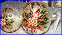 Christopher Radko Double Winter Star Blossom Poinsettia Christmas Ornament Tags