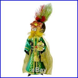 Christopher Radko EMERALD ENSEMBLE Blown Glass Ornament Italian Wiseman