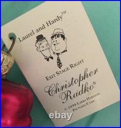 Christopher Radko EXIT STAGE RIGHT LAUREL & HARDY Ornament 99-LAH-01